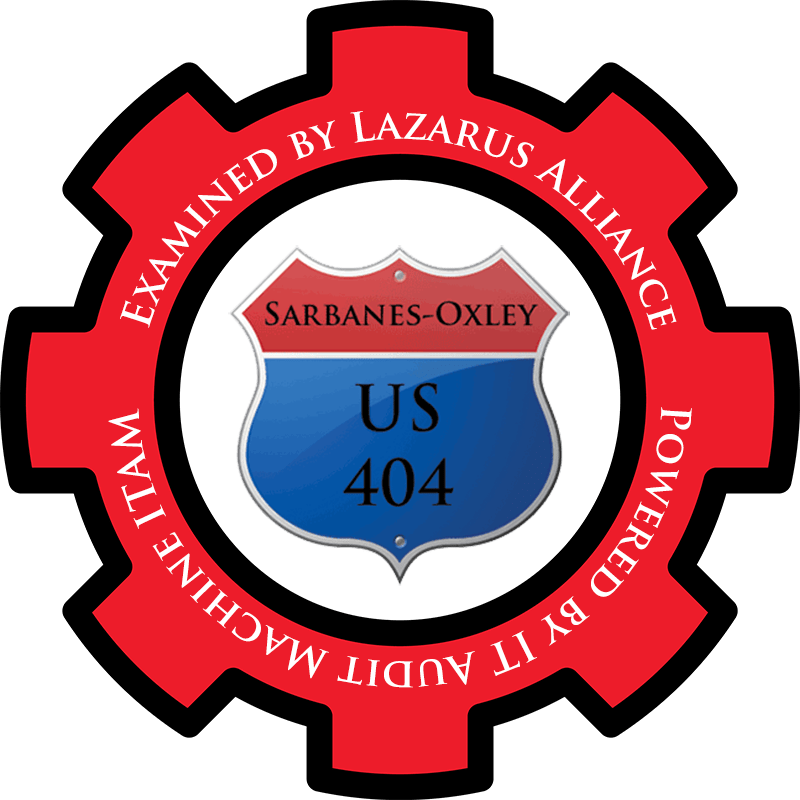 Sarbanes Oxley SOX 404 services from the experts at Lazarus Alliance. We are proactive cyber security.